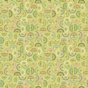 Lewis & Irene - Cocktail Party - 6536 - Citrus Fruit Segments on Lime Green - A352.3 - Cotton Fabric